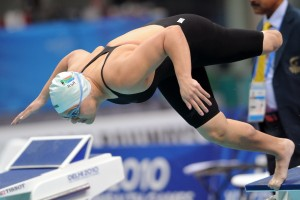 """South African swimmer Natalie du Toit lost her leg after a scooter accident at age 17. Poet Mbali Vilakazi says du Toit """"is everything the Olympics represent to me -- the triumph of the human spirit."""""""
